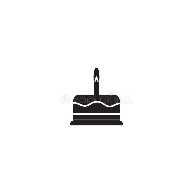 Birthday cake vector icon isolated. Birthday cake vector icon. Vector illustration isolated on white background royalty free illustration
