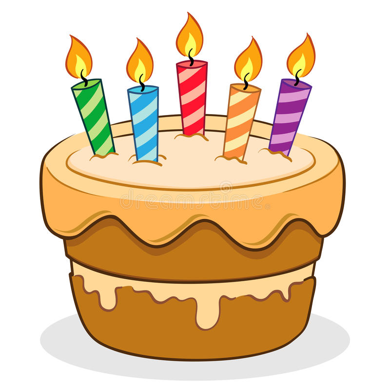 Birthday cake stock vector Illustration of cake illustration