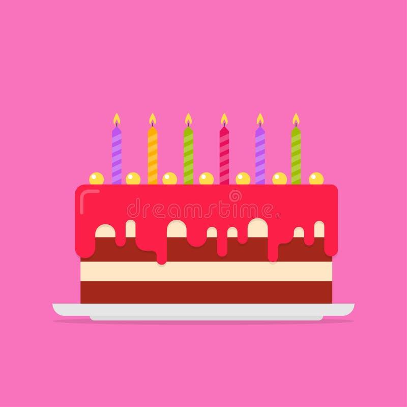 Birthday Cake Vector Illustration Stock Vector Image 94024545