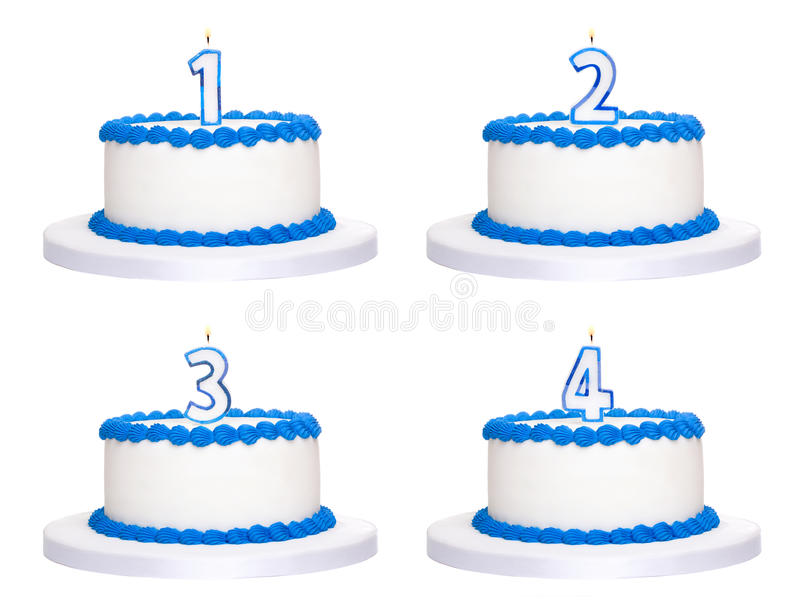 Download Birthday cakes stock photo. Image of isolated, cake, anniversary - 14450632