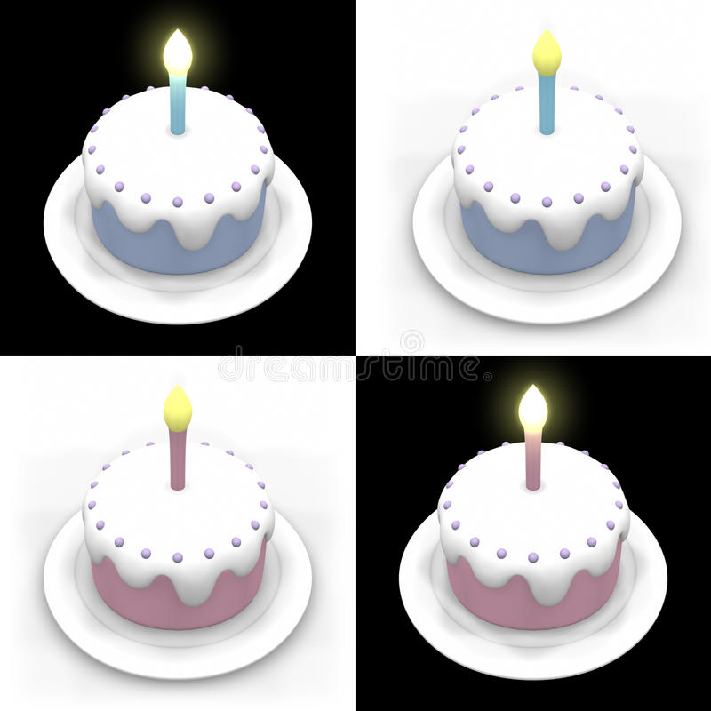 Download Birthday Cakes stock illustration. Illustration of kids - 24691020