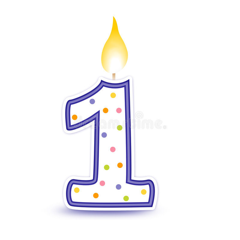 Free Birthday Candle - 1 Stock Photos - 6362823