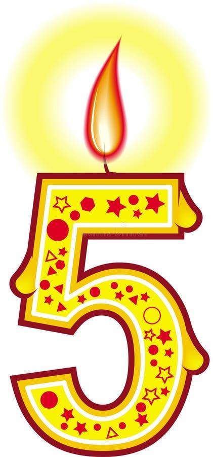 Birthday Candle 5 royalty free illustration