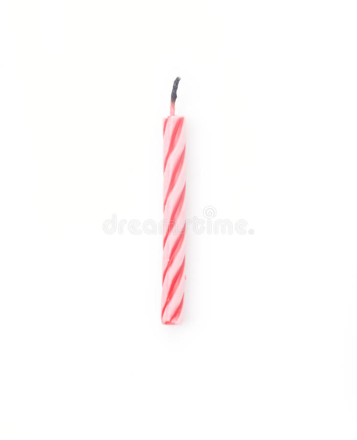 Birthday Candle. Isolated on white background royalty free stock image
