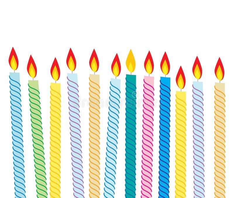Birthday candles stock illustration