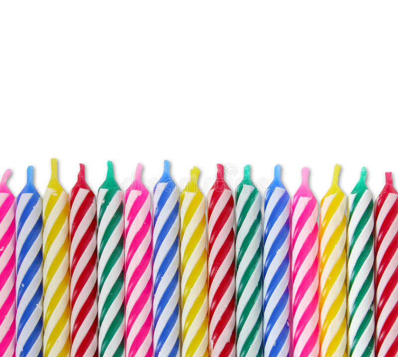 Birthday Candles. A bunch of colorful Birthday Candles royalty free stock photo