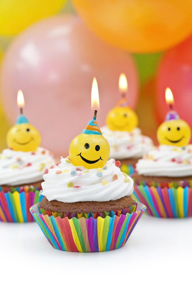 Birthday candles. On colorful background royalty free stock photo