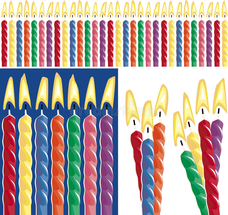 Download Birthday Candles stock vector. Image of fifth, birthdays - 453653