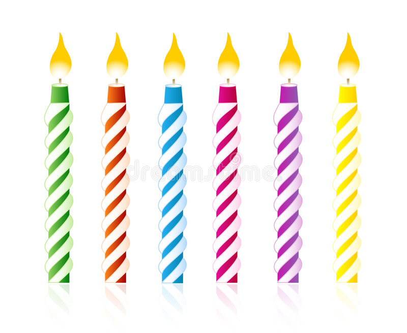 Birthday candles stock illustration