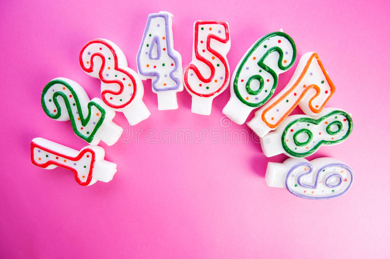 Download Birthday Candles Against  Background Stock Image - Image: 13075027