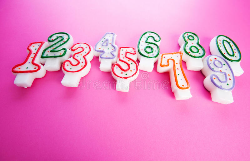 Birthday candles against background stock images