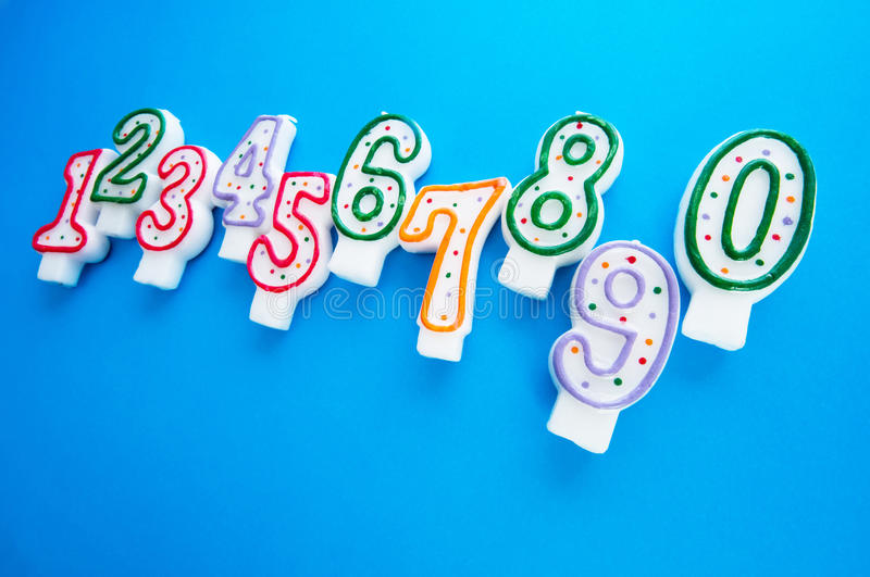 Birthday candles against background stock photos