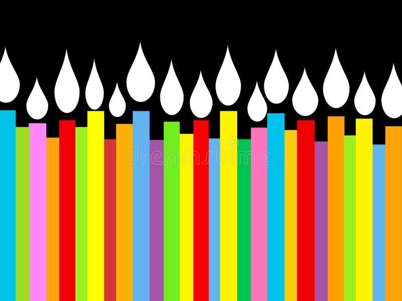 Birthday Candles Illustration stock image