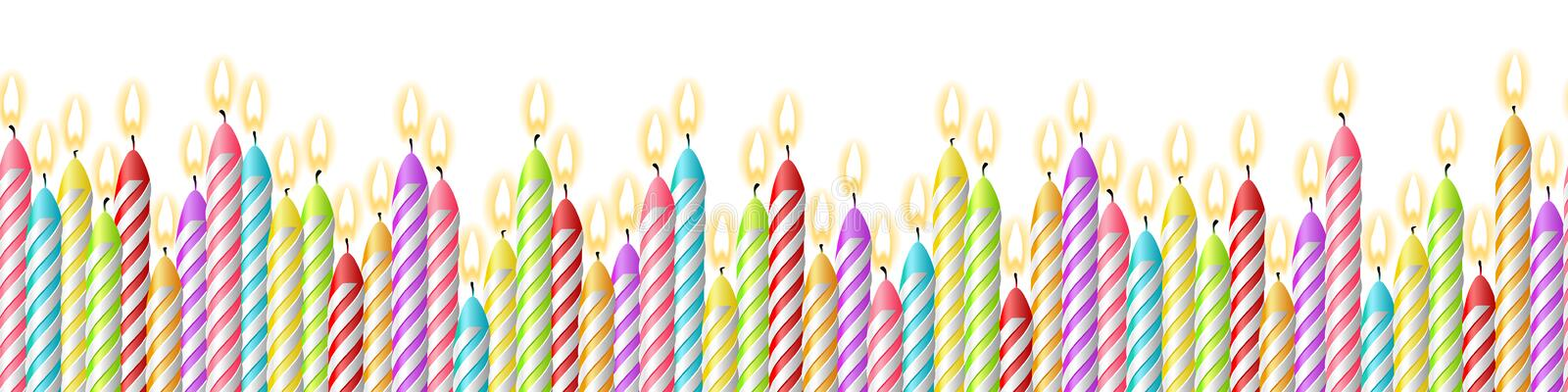 Birthday candles seamless pattern vector isolated stock illustration