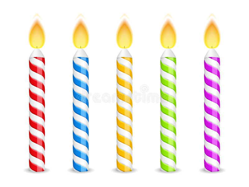 Birthday Candles vector illustration
