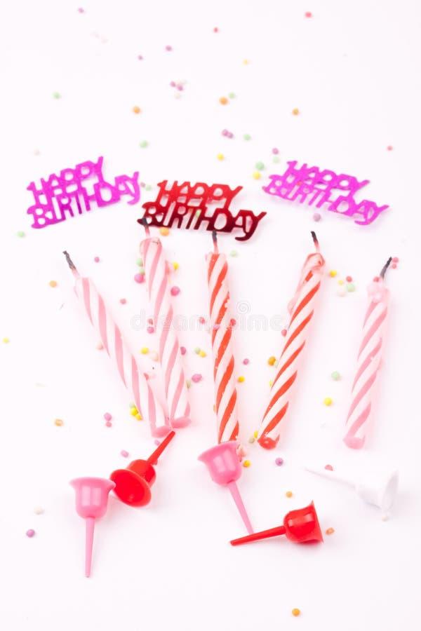 Birthday candles royalty free stock photos