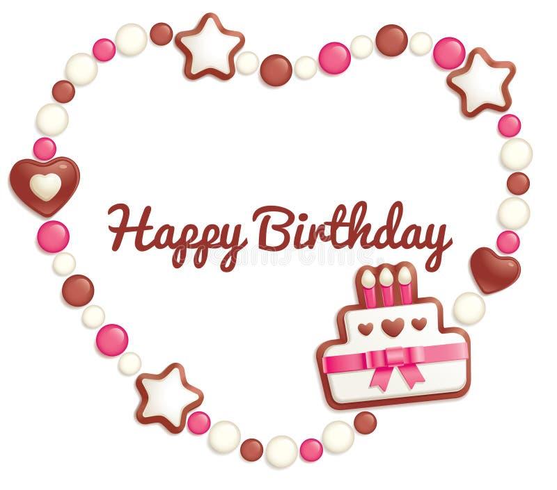 Birthday Candy Frame Stock Photo