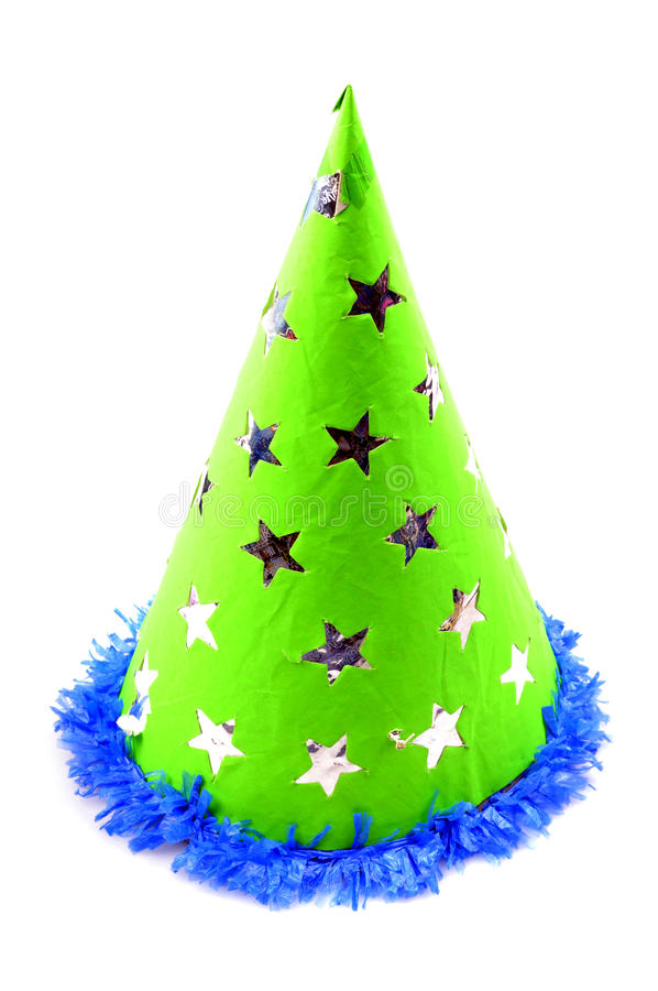 Birthday cap. Isolated on white background royalty free stock photos