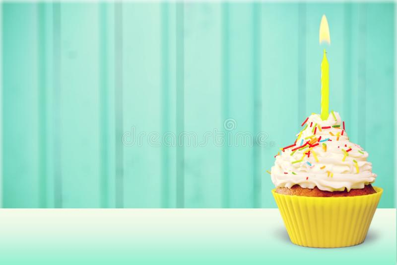 Birthday capcake stock photography