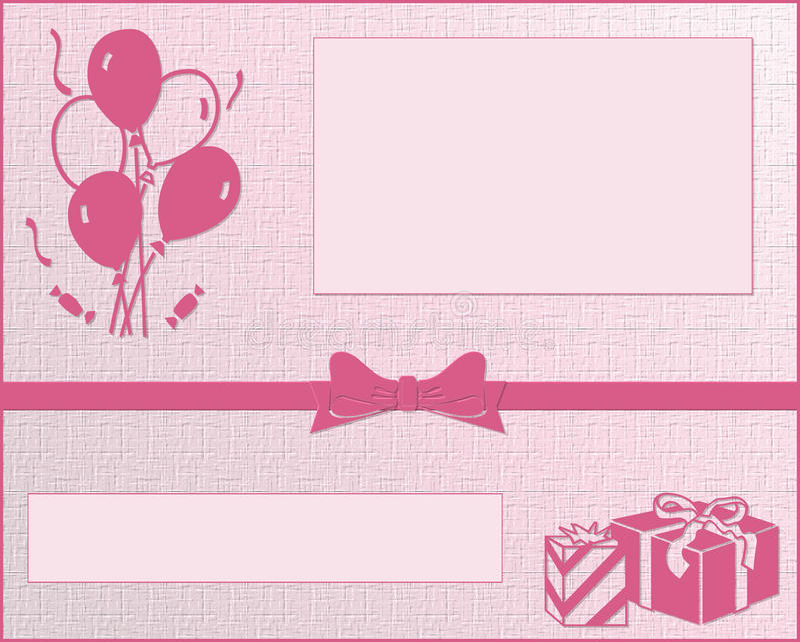 Birthday Card stock illustration