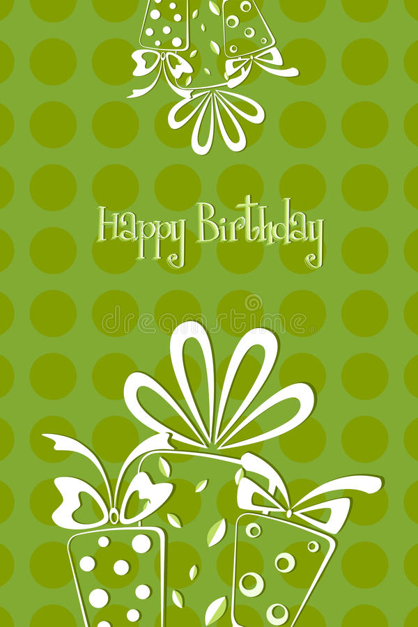 Free Birthday Card Royalty Free Stock Photography - 18581067