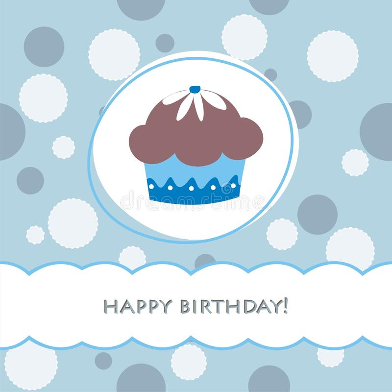 Download Birthday card stock vector. Image of brown, bake, heart - 18919634