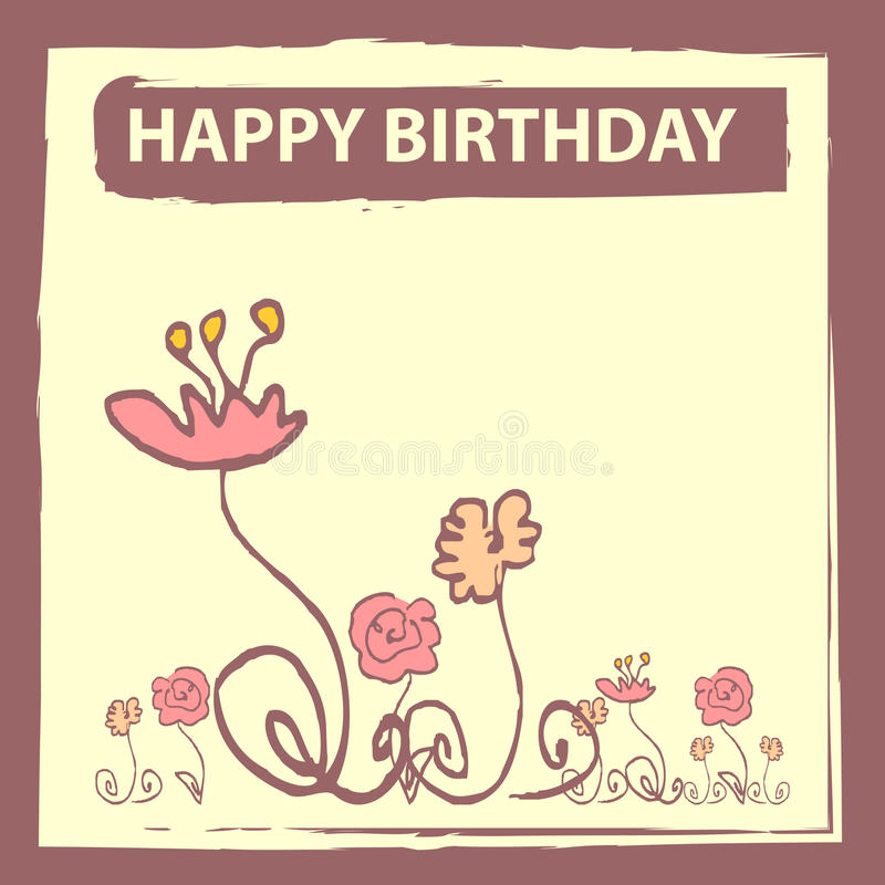Download Birthday card stock vector. Image of birthday, postcard - 24041384
