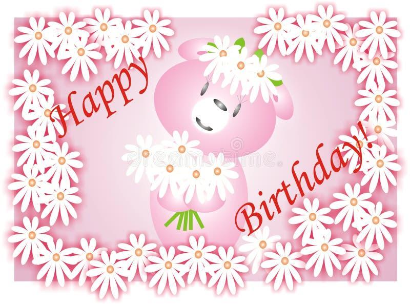 Download Birthday card stock vector. Illustration of gift, bear - 2985203