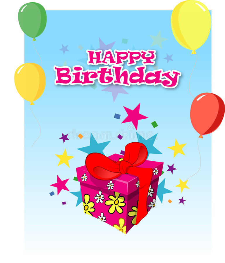 Free Birthday Card Royalty Free Stock Photography - 846397