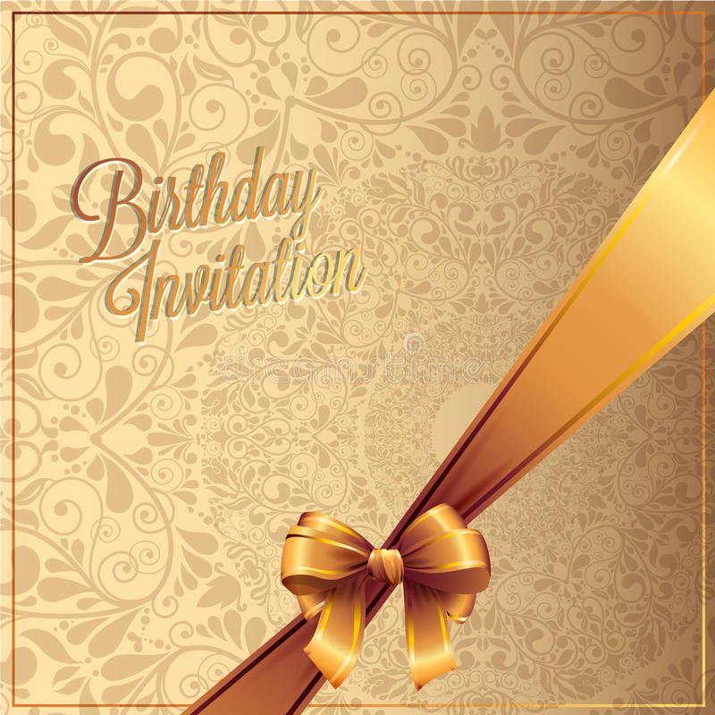 Birthday card with background vector design royalty free stock images