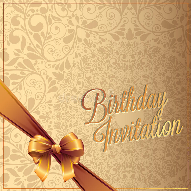 Birthday card with background vector design. Vector background royalty free illustration