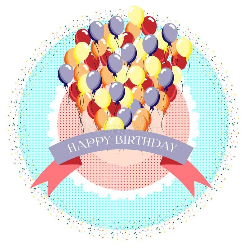 Birthday card vector illustration