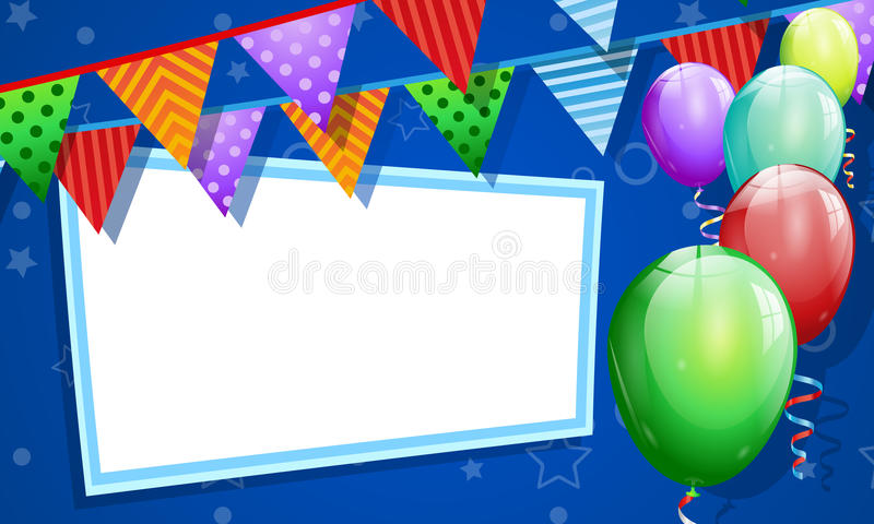 Birthday Card With Blank Banner Stock Illustration ...