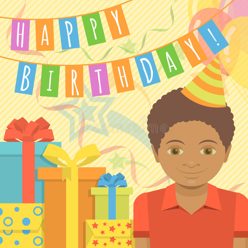 Birthday Card For Boy Stock Vector