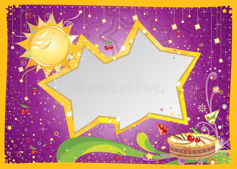 Download Birthday card stock vector. Image of gift, color, event - 34276532