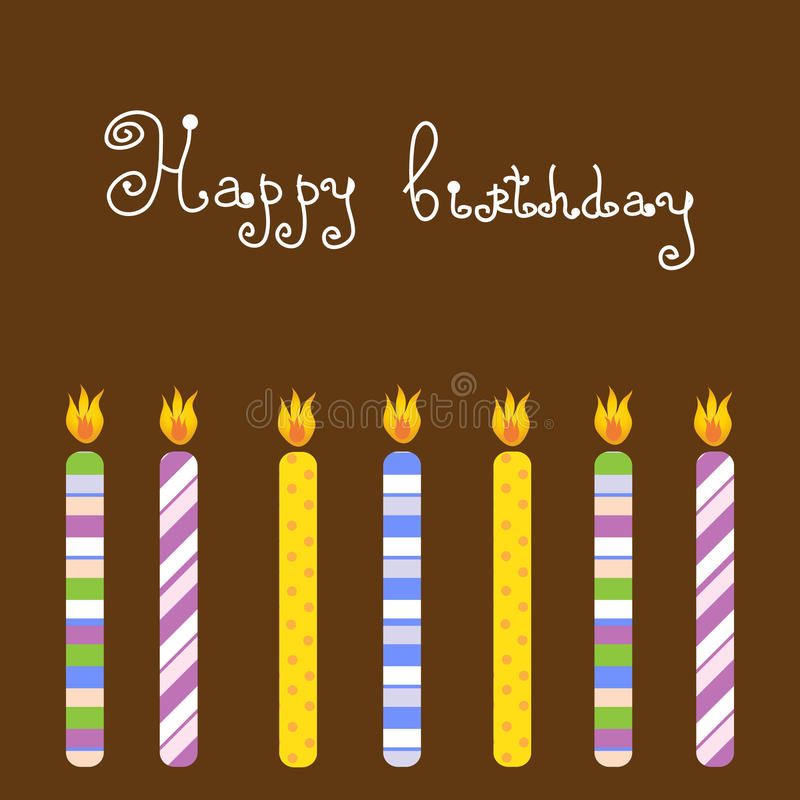 Birthday Card With Candles Stock Image