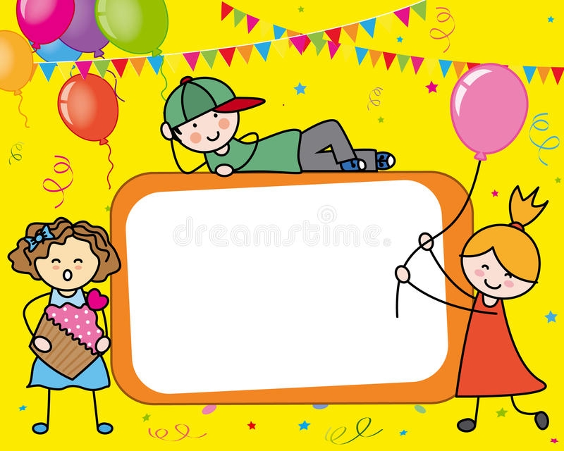 download birthday card stock vector illustration of invitation 47096518