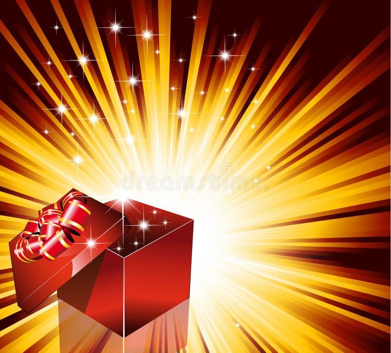 birthday card christmas gift иллюстрация штока