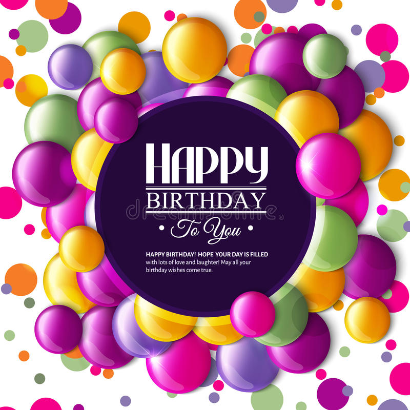 Birthday card with color candy and text stock vector illustration download birthday card with color candy and text stock vector illustration of happiness bookmarktalkfo Image collections