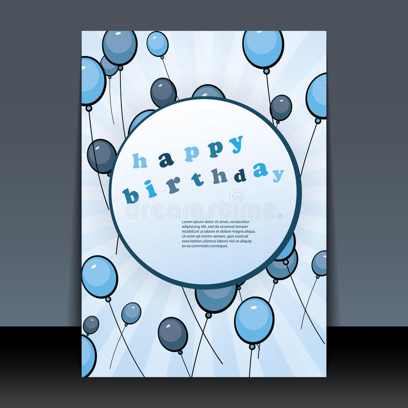 Birthday Card, Flyer Or Cover Design Stock Vector