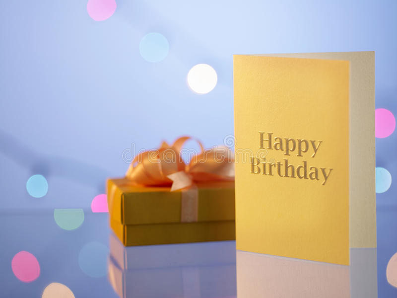 Birthday card stock photo