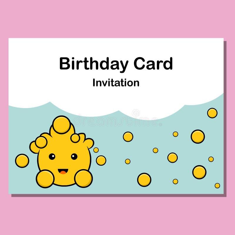 Birthday Card Invitation Cute Background Vector Stock Vector