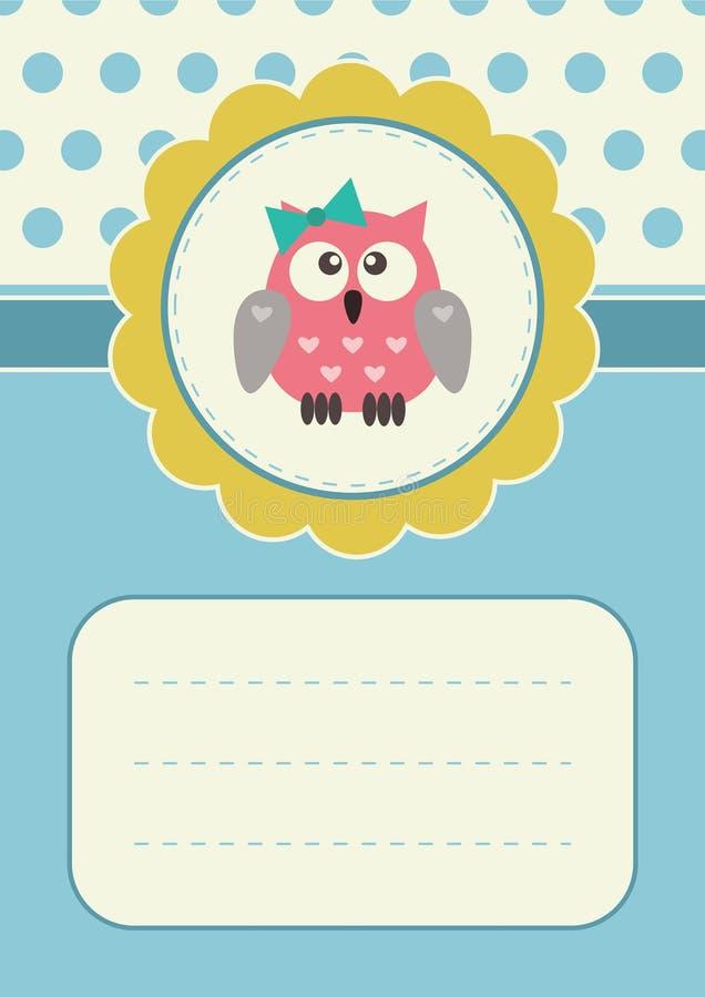 Birthday card with owlet