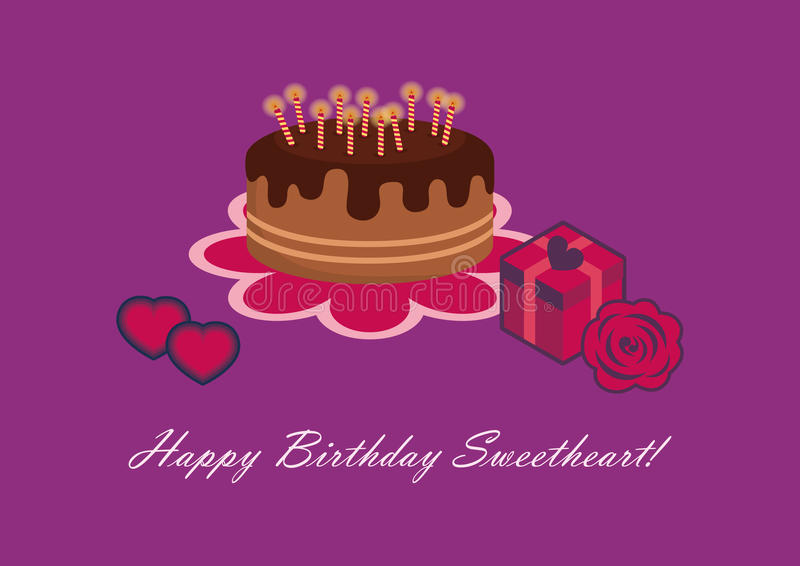 Birthday card for sweetheart stock vector illustration of pink download birthday card for sweetheart stock vector illustration of pink isolated 69510350 bookmarktalkfo Images