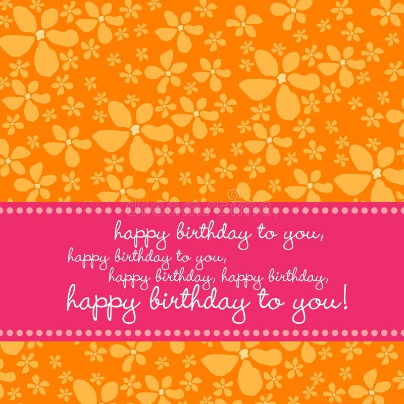 Free Birthday Card With Retro Flower Background Royalty Free Stock Photos - 6117908