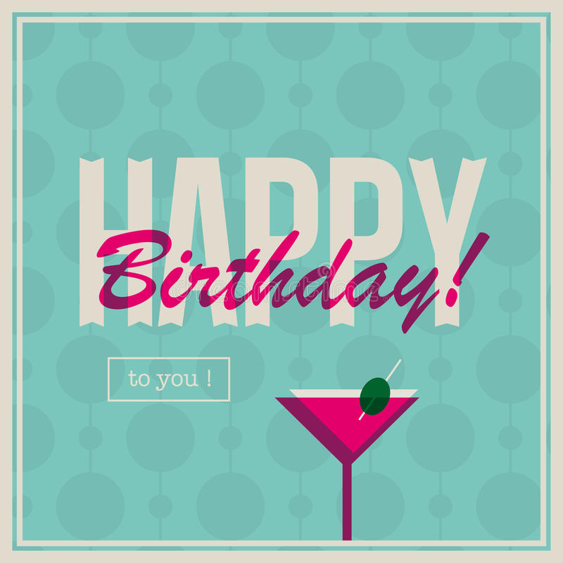 Birthday card for woman with cocktail drink stock illustration download birthday card for woman with cocktail drink stock illustration illustration of family funny bookmarktalkfo Images