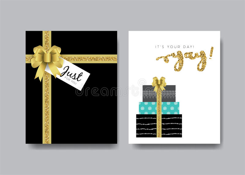 Birthday cards stock illustration
