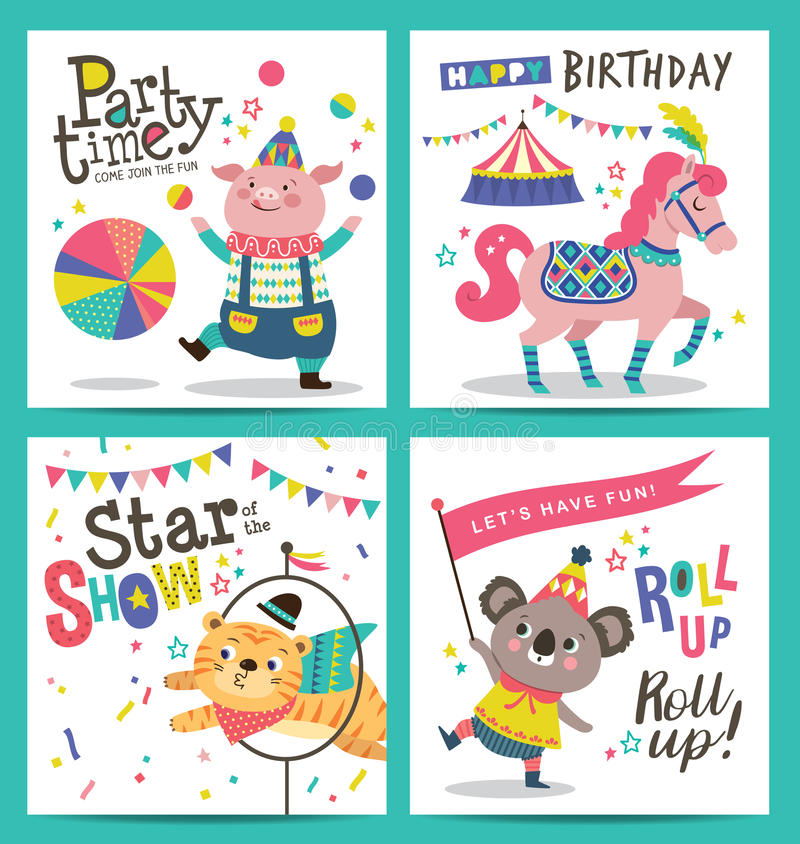 Birthday cards royalty free illustration