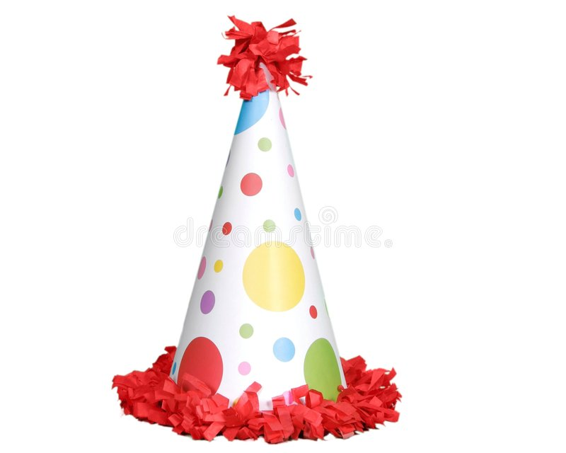 Birthday Celebration Hat. Isolated on White royalty free stock photography