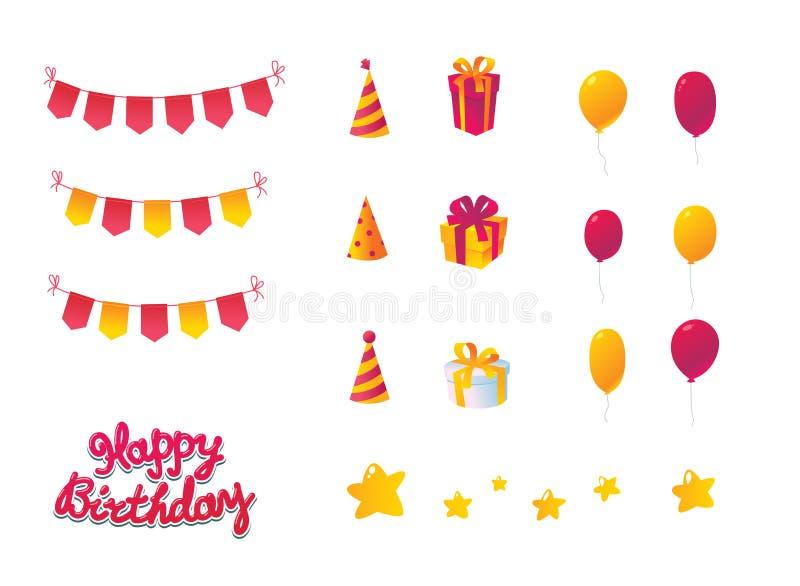 Download Birthday Celebration Set stock vector. Image of background - 27078092